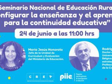 Afiche Seminario Nacional de Educación Rural