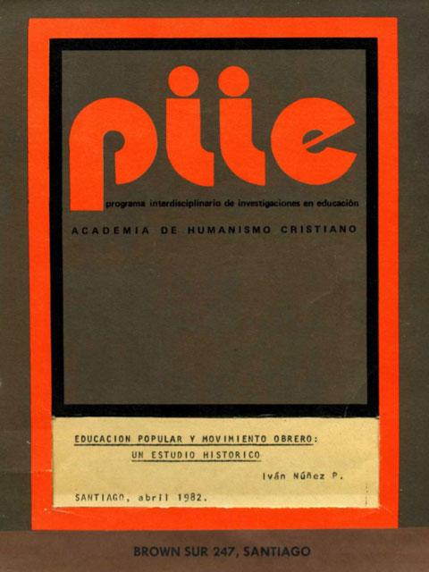 """Portada """"Educación popular y Movimiento obrero"""" 1982"""